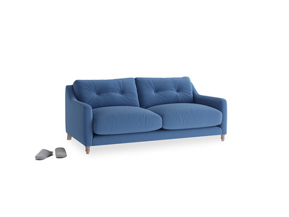 Small Slim Jim Sofa in English blue Brushed Cotton