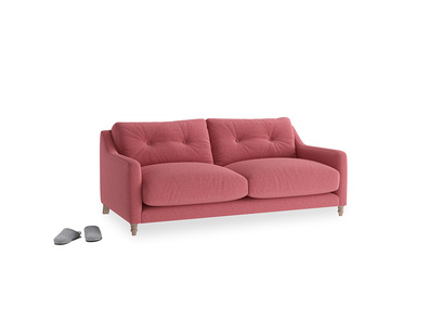 Small Slim Jim Sofa in Raspberry brushed cotton