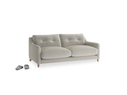 Small Slim Jim Sofa in Smoky Grey clever velvet
