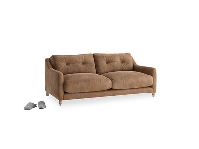 Small Slim Jim Sofa in Walnut beaten leather
