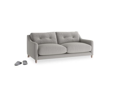 Small Slim Jim Sofa in Wolf brushed cotton