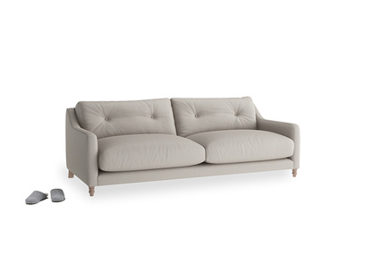 Medium Slim Jim Sofa in Sailcloth grey Clever Woolly Fabric
