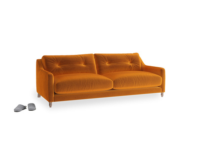 Medium Slim Jim Sofa in Spiced Orange clever velvet