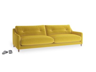Large Slim Jim Sofa in Bumblebee clever velvet