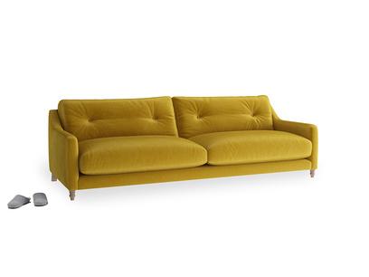Large Slim Jim Sofa in Burnt yellow vintage velvet