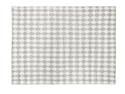 Waves patterned floor rug in Grey