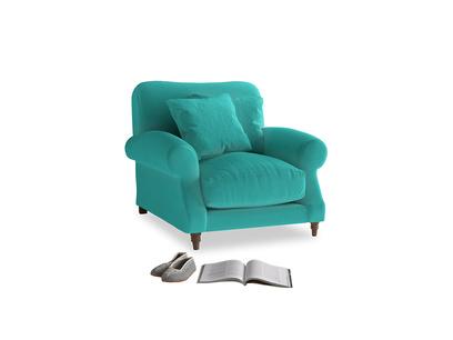 Crumpet Armchair in Fiji Clever Velvet