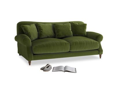 Medium Crumpet Sofa in Good green Clever Deep Velvet