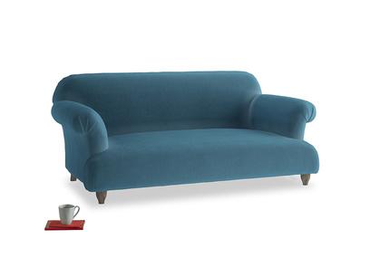 Medium Soufflé Sofa in Old blue Clever Deep Velvet