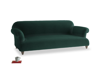 Large Soufflé Sofa in Dark green Clever Velvet