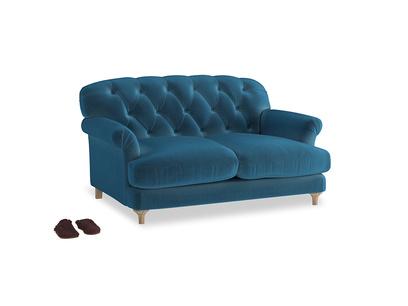 Small Truffle Sofa in Twilight blue Clever Deep Velvet
