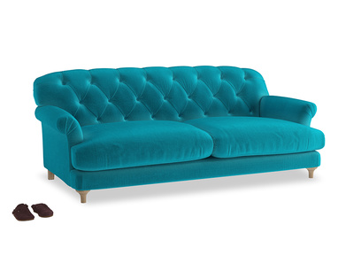 Large Truffle Sofa in Pacific Clever Velvet