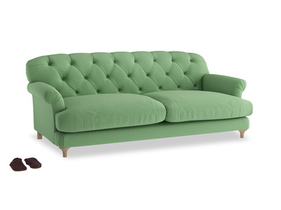 Large Truffle Sofa in Clean green Brushed Cotton