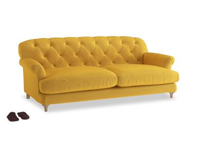 Large Truffle Sofa in Pollen Clever Deep Velvet