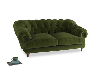 Medium Bagsie Sofa in Good green Clever Deep Velvet
