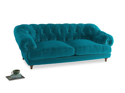 Large Bagsie Sofa in Pacific Clever Velvet