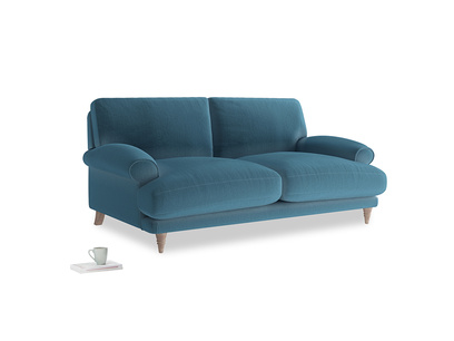 Medium Slowcoach Sofa in Old blue Clever Deep Velvet