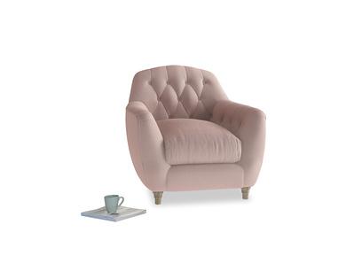 Butterbump Armchair in Rose quartz Clever Deep Velvet