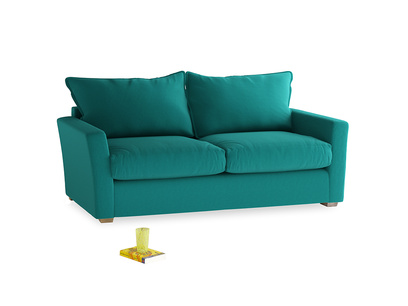 Medium Pavilion Sofa in Indian Green Brushed Cotton
