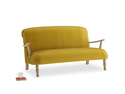 Medium Brew Sofa in Burnt yellow vintage velvet