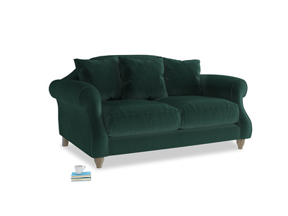 Small Sloucher Sofa in Dark green Clever Velvet
