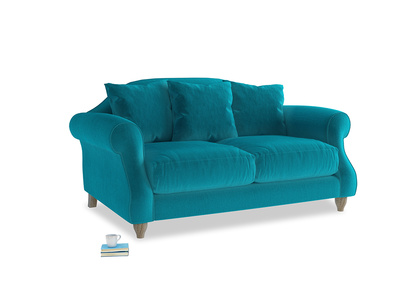 Small Sloucher Sofa in Pacific Clever Velvet
