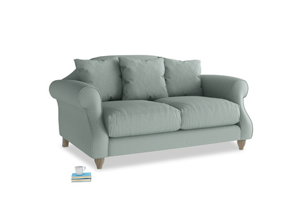 Small Sloucher Sofa in Sea fog Clever Woolly Fabric