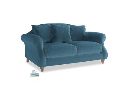 Small Sloucher Sofa in Old blue Clever Deep Velvet
