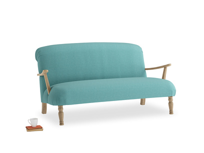 Medium Brew Sofa in Peacock brushed cotton