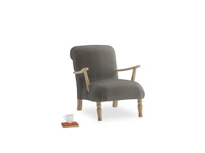 Brew Armchair in Slate clever velvet