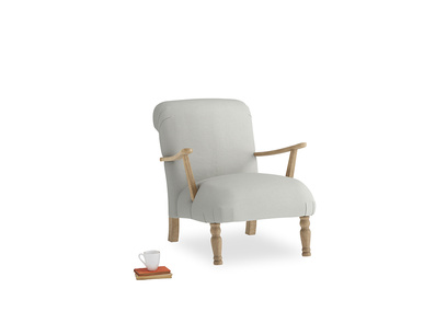 Brew Armchair in Mineral grey clever linen