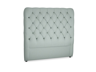 Double Tall Billow Headboard in Sea fog Clever Woolly Fabric