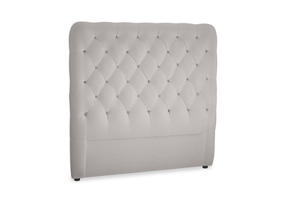 Double Tall Billow Headboard in Mouse grey Clever Deep Velvet