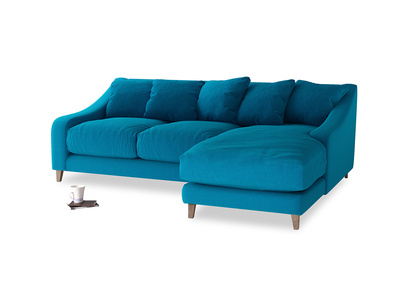 Large right hand Oscar Chaise Sofa in Bermuda Brushed Cotton