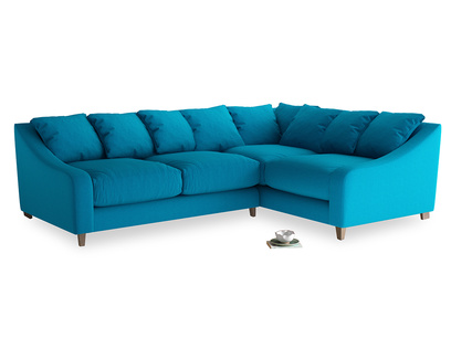 Large Right Hand Oscar Corner Sofa  in Bermuda Brushed Cotton