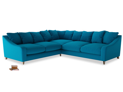 Even Sided Oscar Corner Sofa  in Bermuda Brushed Cotton