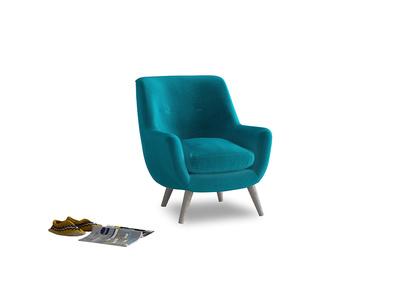 Berlin Armchair in Pacific Clever Velvet