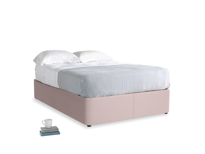 Double Store Storage Bed in Potter's pink Clever Linen