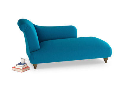 Left Hand Brontë Chaise Longue in Bermuda Brushed Cotton