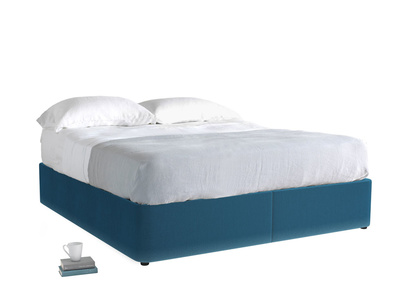 Superking Store Storage Bed in Twilight blue Clever Deep Velvet
