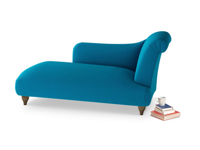 Right Hand Brontë Chaise Longue in Bermuda Brushed Cotton