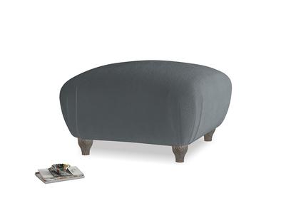 Square Homebody Footstool in Dark grey Clever Deep Velvet
