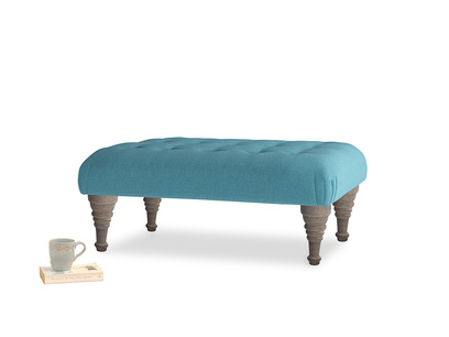 Bloomer Footstool Lido Brushed Cotton