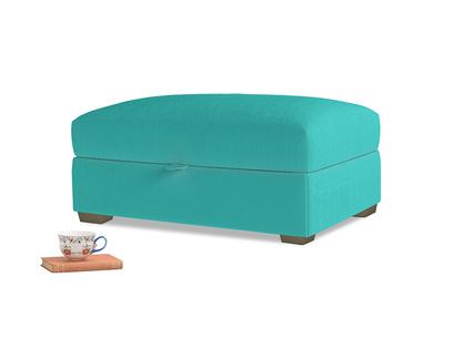 Bumper Storage Footstool in Fiji Clever Velvet