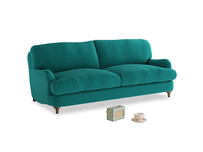 Medium Jonesy Sofa in Indian green Brushed Cotton