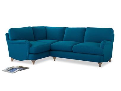 Large Left Hand Jonesy Corner Sofa in Bermuda Brushed Cotton