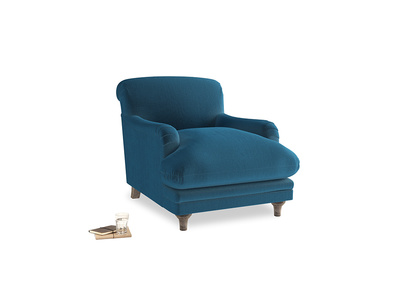 Pudding Armchair in Twilight blue Clever Deep Velvet