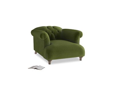 Dixie Armchair in Good green Clever Deep Velvet