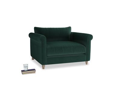 Weekender Love seat in Dark green Clever Velvet
