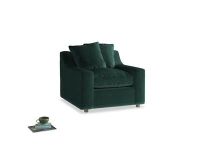 Cloud Armchair in Dark green Clever Velvet